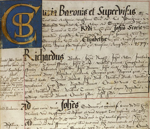 Survey of the Bishop's estates 1577 - held at the Herefordshire Archives