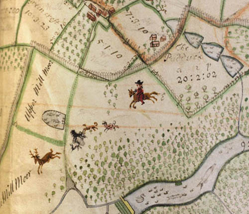 Hampton Court Map - held at the Herefordshire Archives